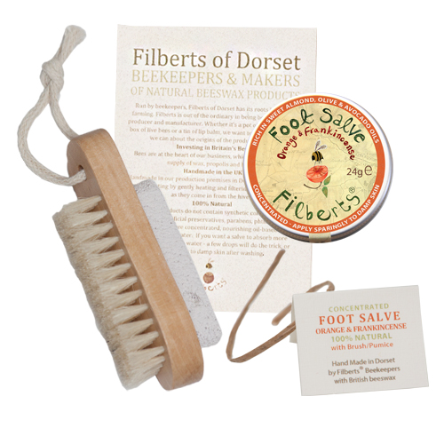 Filberts-of-Dorset-Foot Duos - Foot Salve & Pumice Stone Brush