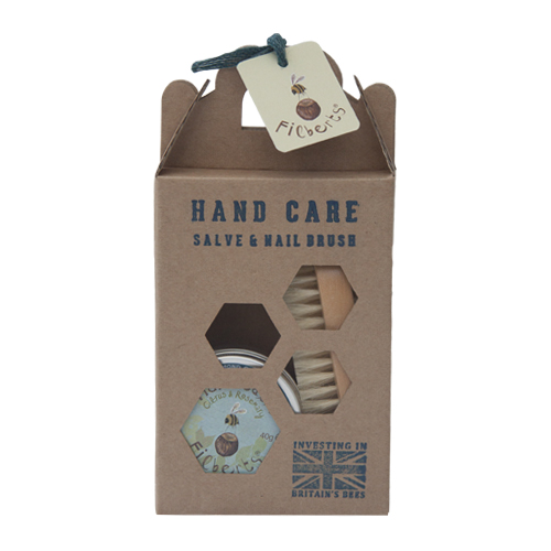 Hand Care Craft Box with Salve & Nail Brush