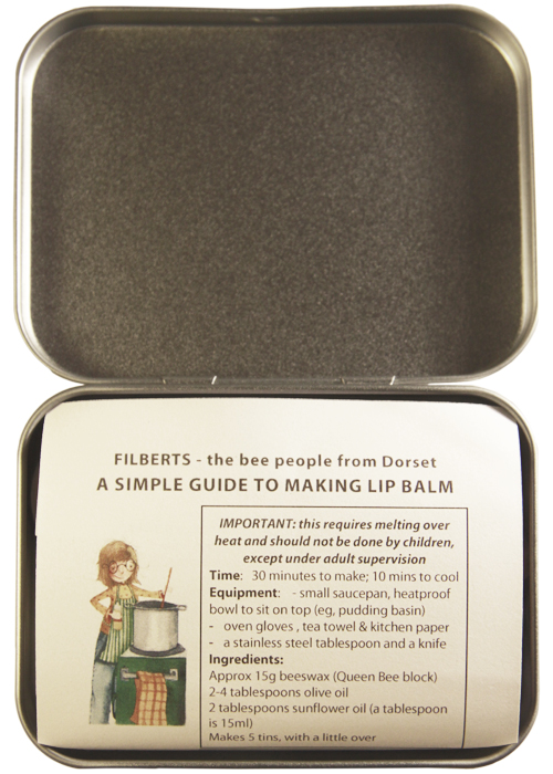 Filberts of Dorset-Lip-Balm kit-open