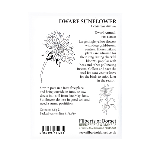 Dwarf Sunflower Seed Packet