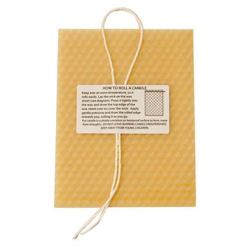 Candle Rolling Kit in a card contents