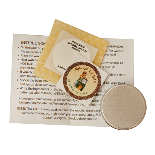 Lip Balm Kit in a Card Contents